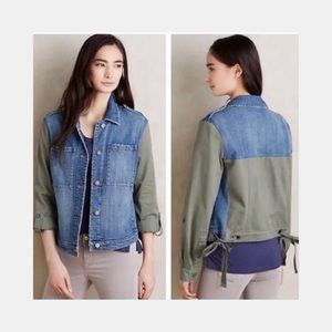 Anthropologie Pilcro Denim Olive Twill Jacket, S